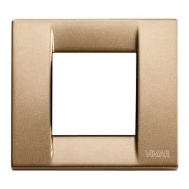 Placca 2 moduli Vimar Idea bronzo metallizzato