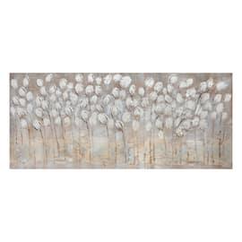 quadro dipinto a mano Tulipani bianchi 65x150
