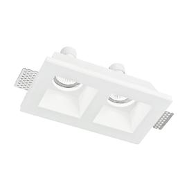 Faretto incasso gesso Ghost-q2 bianco fisso rettangolare 11 x 21,4 cm