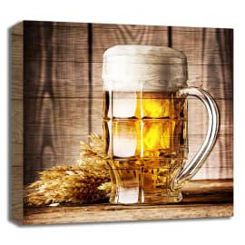 Quadro in legno birra 30x30