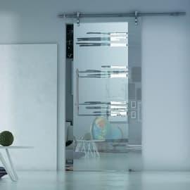 Porta da interno scorrevole Lux Neutro 86 x H 215 cm sx
