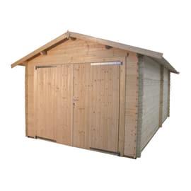Garage In Legno Box Auto Prefabbricati In Legno Leroy Merlin
