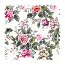 Tessuto su ordinazione Samarcanda bouquet rosa