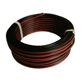 Cavo HI-FI 03VH-H Lexman nero/rosso, matassa 20 m