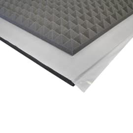 Pannello fonoassorbente piramidale in poliuretano Adesivo L 1 m x H 1 m, spessore 50 mm