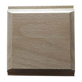 Fregio faggio levigato naturale 10 x 70 x 70 mm