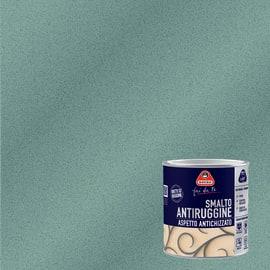 Smalto per ferro antiruggine Boero grigio chiaro grana fine antichizzato 0,5 L