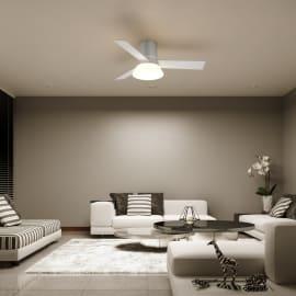 Ventilatore da soffitto con luce led integrato Tivano