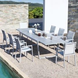 Set tavolo e sedie Upsilon grigio chiaro