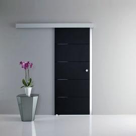 Porta da interno scorrevole Pegaso nero 76 x H 215 cm reversibile