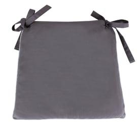 Cuscino per sedia trapezio sfoderabile grigio 40 x 40 cm