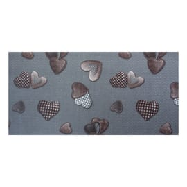 Tappetino cucina antiscivolo Full cuore grigio 55 x 75 cm
