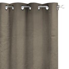 Tenda Lino lavato occhiell marrone 140 x 280 cm