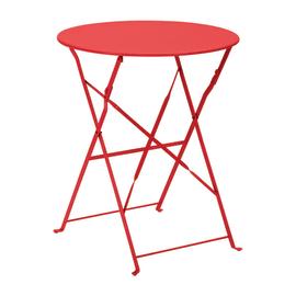 Tavolo pieghevole Color, Ø 60 cm rosso