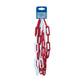 Catena genovese lunga in plastica Ø filo 6 mm x 2,5 m, bianca/rossa