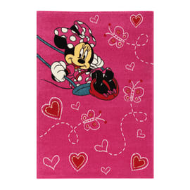 Tappeto Minnie on swing premium multicolore 133 x 190 cm