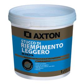Stucco in pasta alleggerita Axton liscio bianco 1 kg