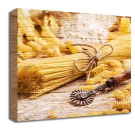 Quadro in legno Pasta 30x30