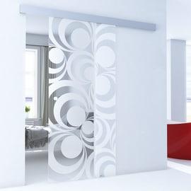 Porta da interno scorrevole Hypnotique/binario Alu 96 x H 215 cm reversibile