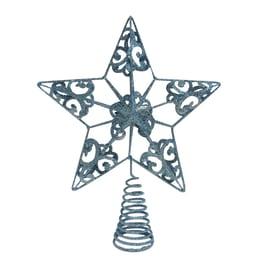 Puntale stella 5 punte azzurro ø 0 cm