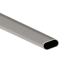 Porta abiti in alluminio grigio L 3 x P 100 x H 1,5 cm