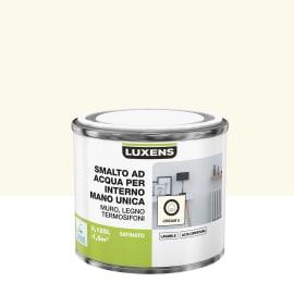 Smalto manounica Luxens all'acqua Bianco Crema 3 satinato 0.125 L