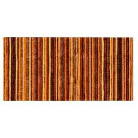 Tappetino cucina antiscivolo Deco stripes arancione 53 x 75 cm
