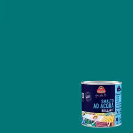 Smalto Boero all'acqua blu pavone brillante 0.5 L