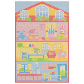 Tappeto Bimba Dollhouse Actline multicolore 133 x 190 cm