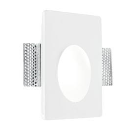 Faretto incasso gesso Ariel-rm1 bianco fisso rettangolare 18 x 12 cm