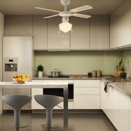 Ventilatore da soffitto con luce Barbade