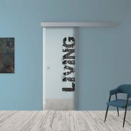 Porta da interno scorrevole Living 88 x H 215 cm reversibile