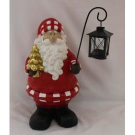 Babbo natale con lanterna 42cm