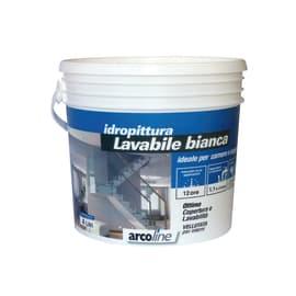 Idropittura lavabile bianca Arcoline Idroseta 4 L