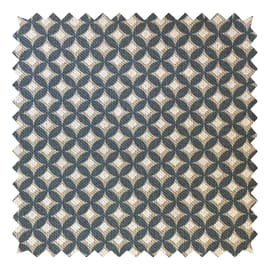 Tessuto su ordinazione Panama Gaia geometrico azzurro