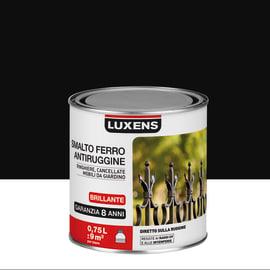 Smalto per ferro antiruggine Luxens nero brillante 0,75 L