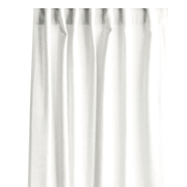 Tenda Lino bianco 140 x 280 cm