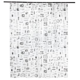 Tenda doccia Barber bianca L 180 x H 200 cm
