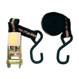 2 cinghie di ancoraggio con cricchetto 3,5 m 25 mm completa di gancio a S