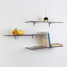 Mensola Plano bronzata L 60 x P 18, sp 0,8 cm