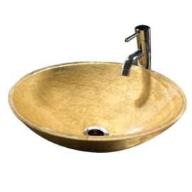 Lavabo da appoggio tondo Camille Gold ø 13 x 39 cm
