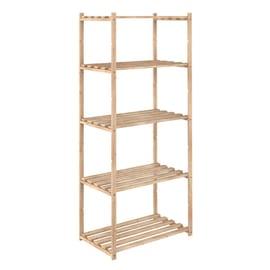 Scaffale legno 5 ripiani L 65 x P 40 x H 171 cm