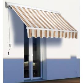 Tenda da sole a bracci estensibili su barra quadra 250 x 200 cm beige