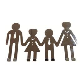 Appendiabiti da porta Family 8 posti cromo