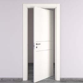 Porta da interno rototraslante Two Lines bianco 80 x H 210 cm dx