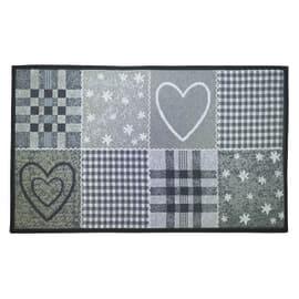 Tappetino cucina antiscivolo Master cuore grigio 50 x 80 cm