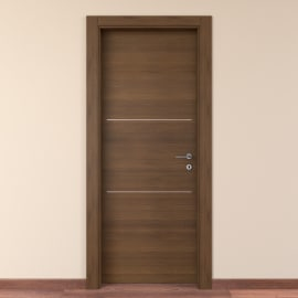 Porta da interno battente Tussauds Cacao 70 x H 210 cm sx