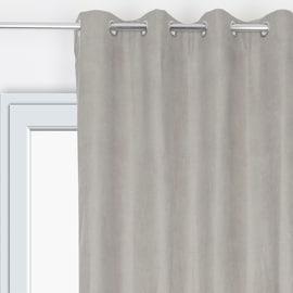 Tenda Velours Oscurante termica occhielli grigio 135 x 280 cm