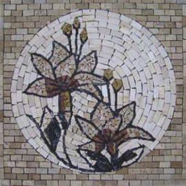 Rosone Fiore noce multicolor 66 x 66 cm