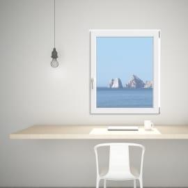 Finestra PVC bianco L 100 x H 120 cm dx